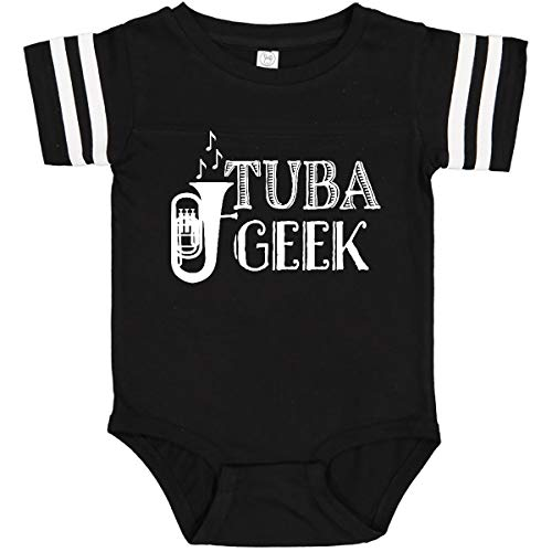 inktastic Tuba Geek Infant Creeper 24 Months Football Black and White 34d65