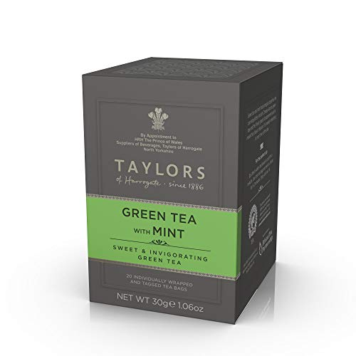 Taylors of Harrogate Green Tea with Mint, 20 Count (Pack of 1)