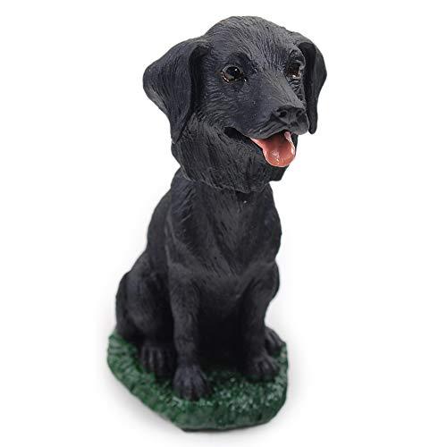 Animal Den Black Lab Dog Bobblehead Figure Toy for Car Dash Desk Fun Toy Accessory