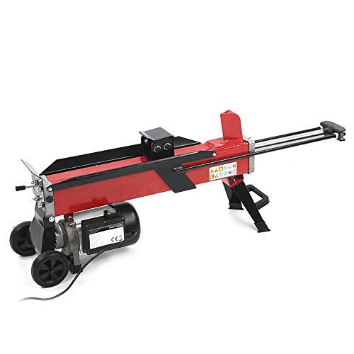 Save %5 Now! Electric Log Splitter, Electric Hydraulic Wood Cutter Portable Log Splitter 7-Tons Spli...