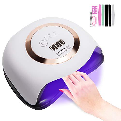 J TOHLO 168 W Lampada per Lampada Unghie UV LED, 4 Timer Preimpostati, Fornetto Unghie Professionale per Manicure e Pedicure con Sensore Automatico,con kit per nail art kit, regali &DIY