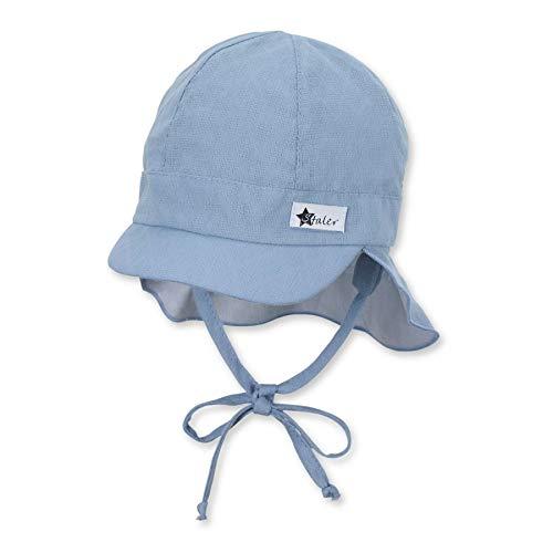 Sterntaler Baby-Jungen m 1502130 Schirmmütze mit Nackenschutz, blau, 45
