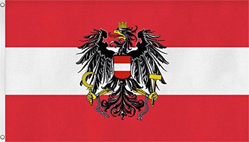 normani Fahne mit Messingösen 90 x 150, 150 x 250 oder 300 x 500 cm wählbar Farbe Österreich Größe 90 x 150
