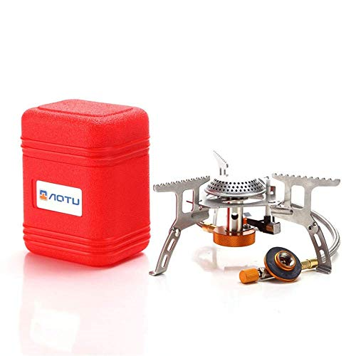 AOTU 3500W Portable Camping Gas Stove, Backpacking Stove with Piezo Ignition , Support Wind-Resistance Camp Stove for Outdoor Camping Hiking Cooking