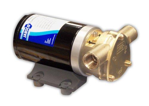"Jabsco 18670-0123 Marine Water Puppy Bilge / Sump Flexible Impeller Commercial Duty Pump 470-GPH, 12-Volt, 15-Amp Non-CE, 1/2"" NPT Ports, Black"