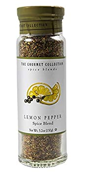 The Gourmet Collection Seasoning Blends Lemon Pepper Spice Blend  Seasoning Rub for Cooking Fish Seafood Chicken Salmon Vegetables 156 Servings.