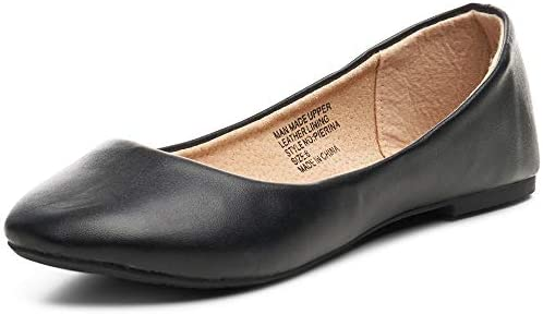 Alpine Swiss Womens Black Leather Pierina Ballet Flats 10 M US product image