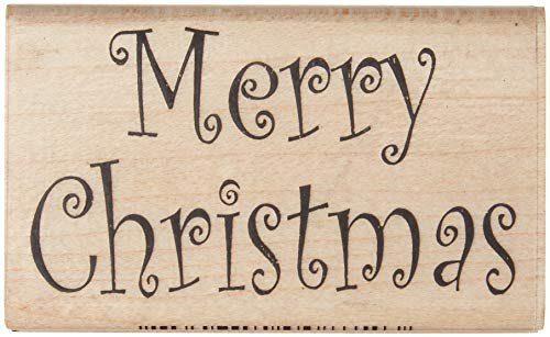 Stamps by Impression Merry Christmas Rubber Stamp