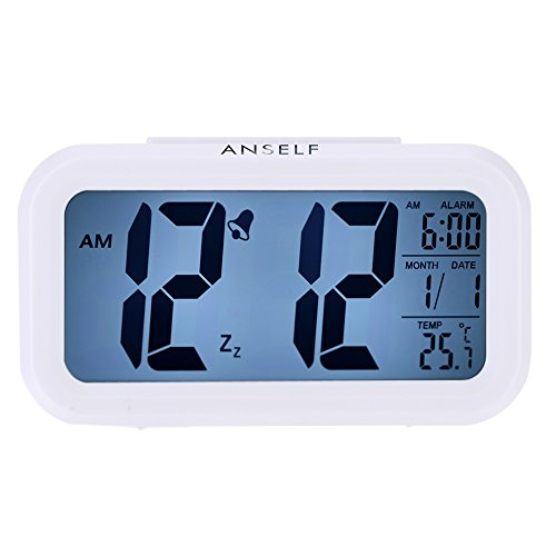 LED Digital Alarma despertador,Anself Reloj Repeticion activ