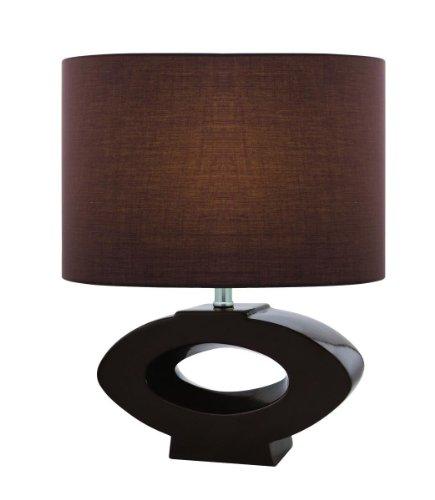 Lite Source LS-21646COFFEE Table Lamp, Coffee Ceramic with Coffee Fabric Shade