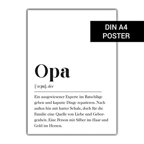 Opa Definition: DIN A4 Plakat
