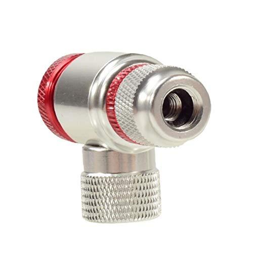 Infladores de CO2 para Las bicis de neumáticos de válvulas Presta y Schrader Plata Compatible neumático de la Bici Bomba Cabeza de aleación de Aluminio
