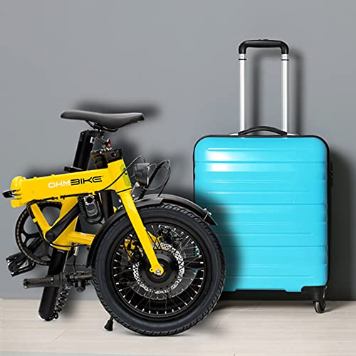 Marktneuheit 2021 Elektro Klapprad bis zu 50km Reichweite und 25km/h Geschwindigkeit überall Mitnehmen Faltrad e-Bike 16
