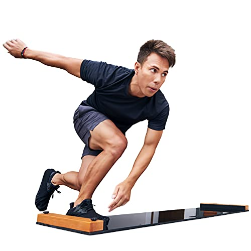 BRRRN Slide Board - Home Workout to Build Core Muscles and Great Cardio Workout - Easy to Use and Store - Exercise Equipment for Hockey, Ice Skating and Skateboarding - Adjustable 5-6 Ft