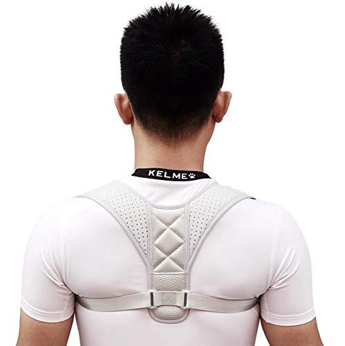 SGLL Back Posture Corrector, Rückenstütze Männer und Frauen unterstützen die korrekte Haltung des oberen und unteren Rückens von Lendenwirbelsäule und Skoliose,Gray