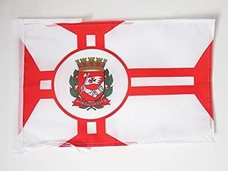 AZ FLAG Sao Paolo Flag 18'' x 12'' Cords - Saint Paul in Brazil Small Flags 30 x 45cm - Banner 18x12 in