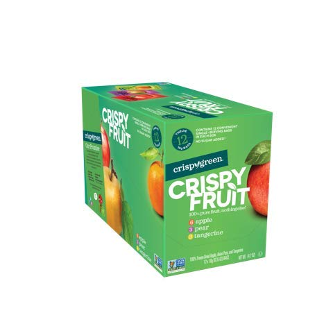 Crispy Green Freeze-Dried Fruit, Single-Serve, Variety Pack, 0.35 Ounce (Pack of 12)