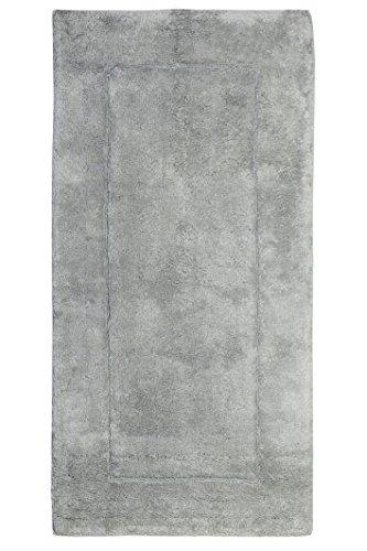 Jute & Co. Artico Tappeto Bagno in Cotone di Alta qualità, Misura 60 x 120 cm, Grigio