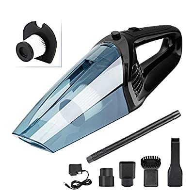 XUEJET Cordless Handheld Vacuum Rechargeable Car Vacuum Cleaner Portable Dust Busters for Cars Home Office Wet/Dry Cleaning (12V 120W)