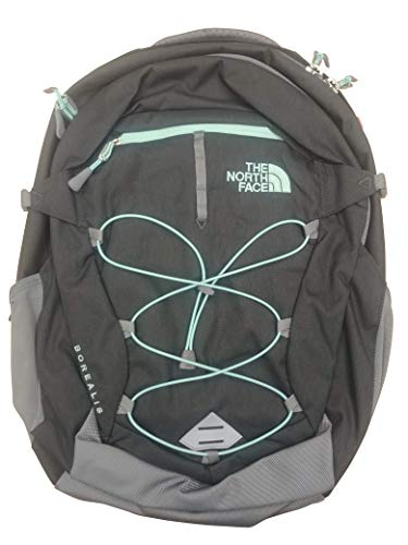 The North Face Women Borealis Backpack (Zinc Grey Light Heather Surf Green)