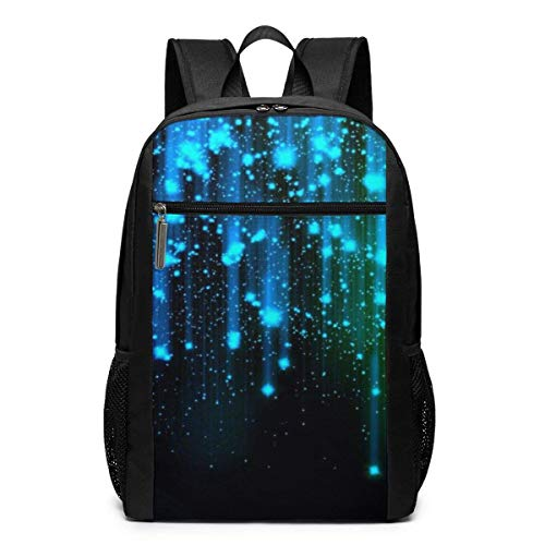 IUBBKI Lightweight Casual 17-Inch Backpack Rucksack For Laptop Books Unisex Backpack School Backpack And Blue Neon Lights