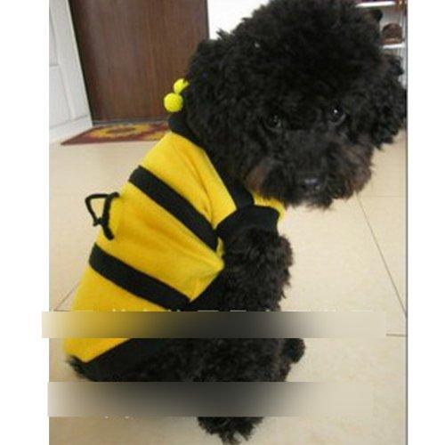 HuntGold Nouveau costume vêtement mignon design bumble bee pour chien chat(10#)