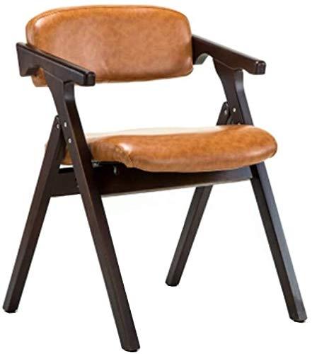 Rollsnownow Holz-Klappstuhl, Gemütlich Esszimmerstuhl Sessel (Color : Dark Yellow)