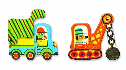 DJECO - Duo-Puzzle Artikel für Fahrzeuge, Mehrfarbig (DJ08170)