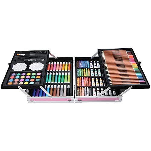 145 Lápices de Colores Profesionales, incluida la Acuarela, Estuche de Lápices de...