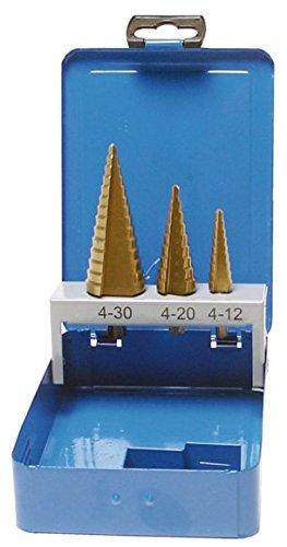 SW-Stahl de forets étagés HSS TIN, 3 pièces, 82415l