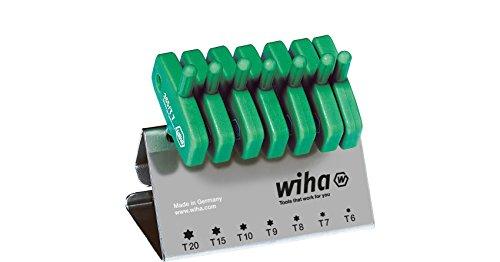 Wiha Stiftschlüssel mit Schlüsselgriff Set TORX® 7-tlg. brüniert im Werkbankständer (25624)
