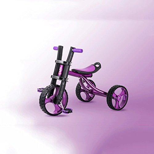 Enfants Tricycle Vélo Enfant Bébé Poussette Big Harley 2-3-5 Ans Vélo GAOLILI (Couleur : Violet)