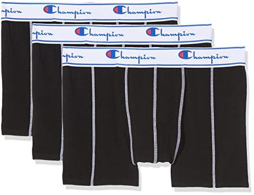 Champion Coton, Boxer de Bain Homme, Noir (Noir 8mj), X-Large (Taille Fabricant: XL) (lot de 3)