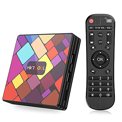 Android TV Box, Android 11.0 TV Box [4GB RAM+64GB ROM] SUPERPOW HK1 COOL Smart TV BOX [2021 Ultima Versione] Supporto Ultra HD/H.265 / 4K / 3D / BT4.0 / USB3.0/2.4 GHz /Wi-Fi 2,4 e 5 GHz/ RK3318