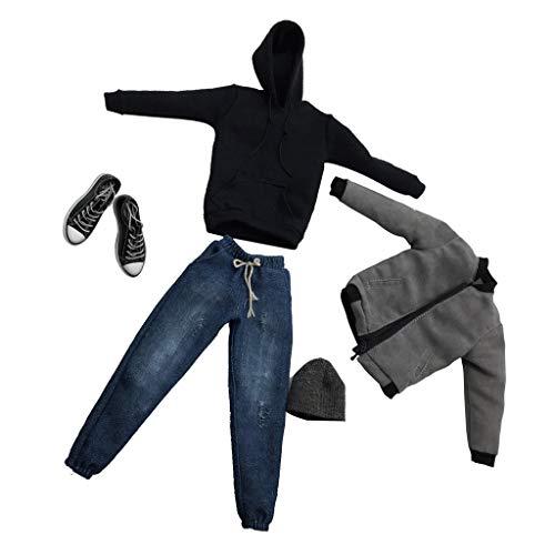 ZSMD Mens Coole Outfits Kleidung Anzug Fit Für 1/6 Scale Skala Männliche Action Figur Spielzeug - Grau