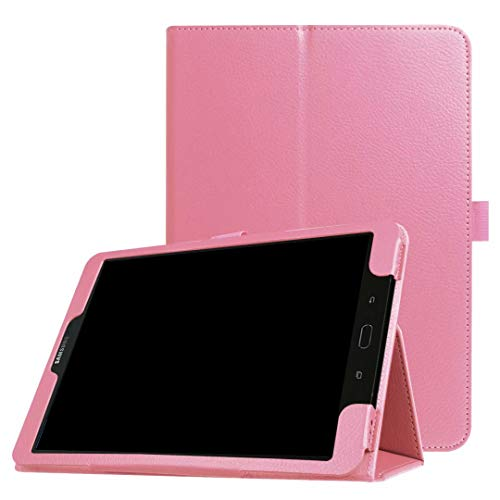 for Samsung Galaxy Tab S3 9.7 SM-T820 T825 T827 (2017 Release) Tablet Leather Case Ultra Thin Slim Folio Stand Sleep/Wake Up Smart Cover for Galaxy Tab S3 9.7 SM-T825C SM-T827V (3-Pink)