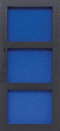 BGS 4091 | Insert de servante d'atelier 1/3, vide : 3 tablettes | 408 x 189 x 32 mm