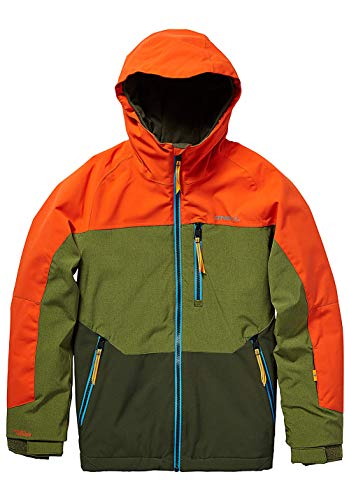 O'Neill Jungen Kinder Snowboard Jacke Astron Jacket Boys, Bright orange, 164