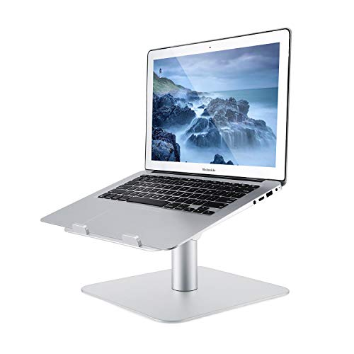 OUTAD Laptop Stand,Adjustable Laptop Riser Multi-Angle and Height 360° Rotation Aluminum Alloy Computer Stand with Cooling Holes Vents Computer Accessory Compatible Laptop Notebook Tablet of 10-17'