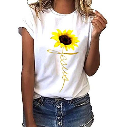 ESAILQ Damen 2018 Neue Damen Rundhals Falten T-Shirt Ärmellos Stretch Tunika Top(M,Weiß)