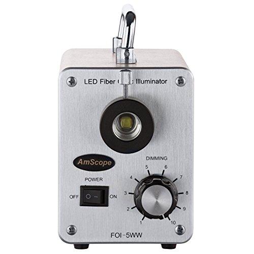 AmScope LED-50W 50W LED Cold Fiber Optic Illuminator
