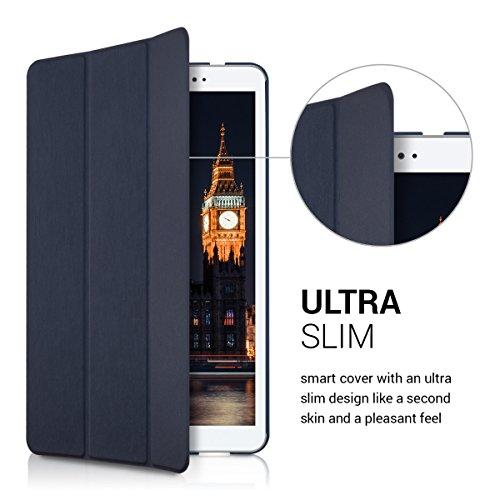 kwmobile Huawei MediaPad T1 10 Hülle - Smart Cover Tablet Case Schutzhülle für Huawei MediaPad T1 10 - Dunkelblau - 2