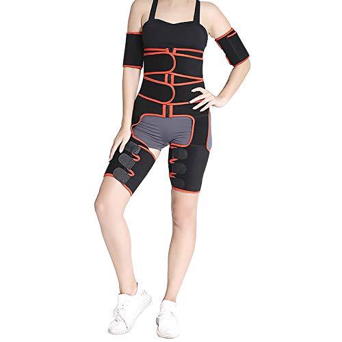 ZJchao Fajas adelgazantes 3 en 1 Entrenador de Cintura Ajustable Fitness Cinturón Levantador de glúteos Deportes Yoga Recortador de Muslos Cintura Entrenador de Forma Corporal(S/M)
