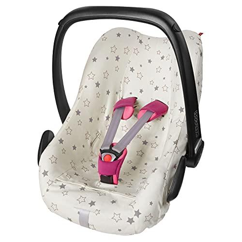 ByBoom Sommerbezug, Baby Schonbezug für Babyschale aus 100% BIO-Baumwolle mit Motiv, OEKO-TEX, Universal für z.B. Maxi-Cosi, CabrioFix, Pebble, City SPS