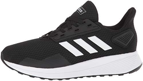 adidas Unisex-Kid's Duramo 9 Running Shoe, Black/White/Black, 5 6