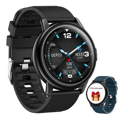 Smartwatch Pulsera Inteligente, DEKITA 1.3' Reloj Deportivo Pantalla TáCtil Completa Hombre Mujer Pulsera, Impermeable IP67 Reloj...