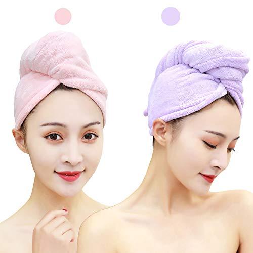 [WALKPRO]タオルキャップドライキャップヘアドライタオルヘアターバンお風呂上がり大人子供用髪の毛乾かす専用速乾吸水マイクロファイバー吸水タオル強い吸水性ふわもこバス用品2枚セット