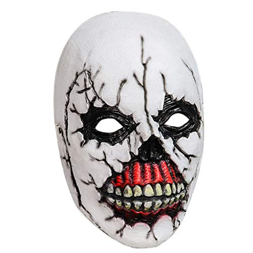 hdgcb Halloween Decor 3D Terror miedo sonriente payaso máscara de látex Halloween disfraz Cosplay Props para hombres