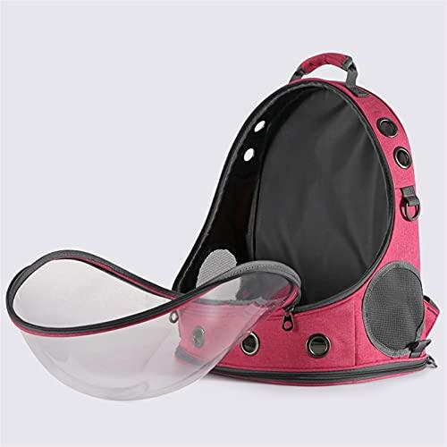 DEYUCHANG Zaini Cat Clear Capsule View of Your Puppy Zaino per Viaggi a Mani libere/Escursioni Airline approvate (Color : Pink)
