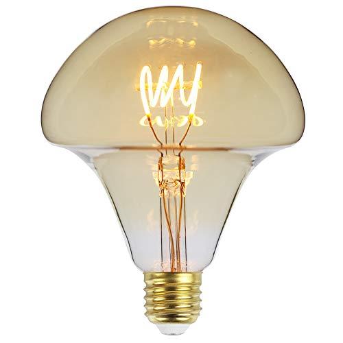 Tianfan LED-Glühbirne, Vintage-Leuchtmittel, G125, Halbkugel mit vier Schlaufen, 220 / 240 V, E27, 4 W, dimmbar